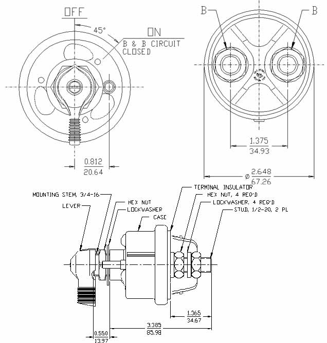 channel master rotor wiring diagram master battery disconnect switch kill 2post spst kill cut ... master switch wiring diagram