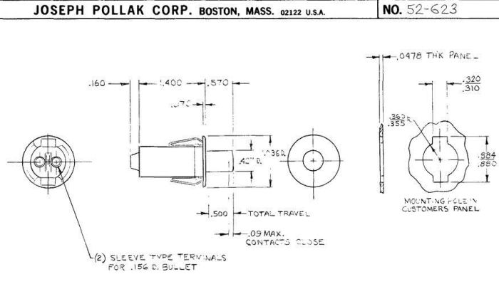 door jamb switch ford amc style lincoln continental 65 66 ... lincoln continental fuse box diagram